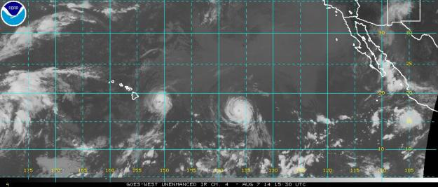 Iselle a category one Hurricane and Julio a category two hurricane bear down on Hawaii